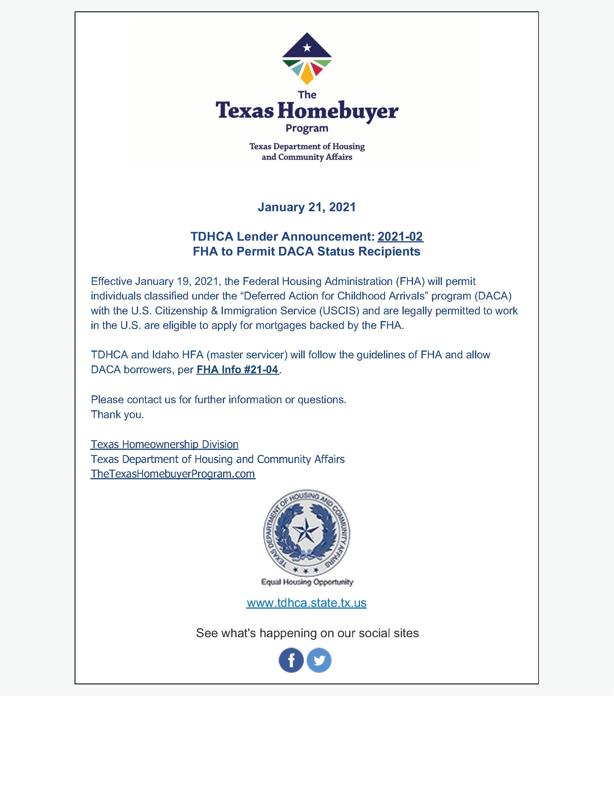 DACA Notice